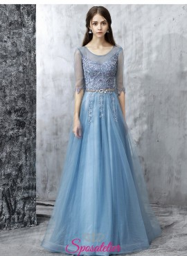 vestiti damigella d'onore adulta lunghi collezione 2018 economico vendita online
