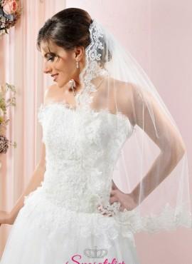 velo da sposa corto con bordo in pizzo vendita online 2018