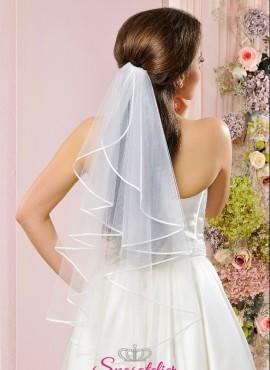 velo da sposa a cascata con bordo in pizzo corto economico online 2018