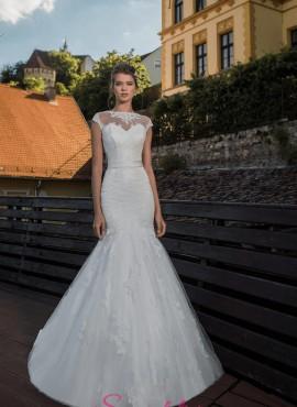 abiti da sposa a sirena in pizzo particolare collezione 2018