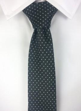 cravatta nera classica a pois
