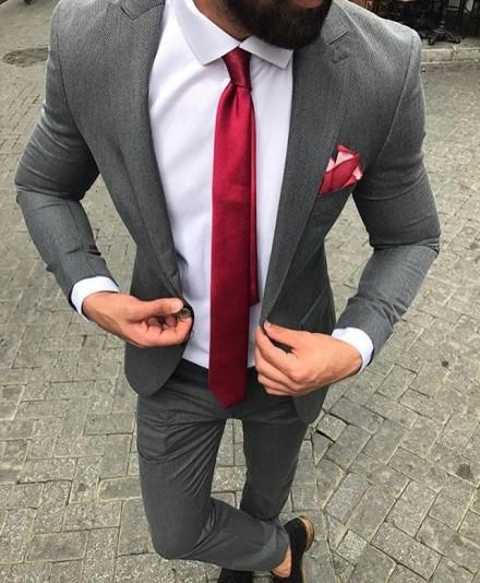cravatta slim bordeaux