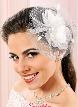 Fermacapelli per acconciatura sposa online in organza