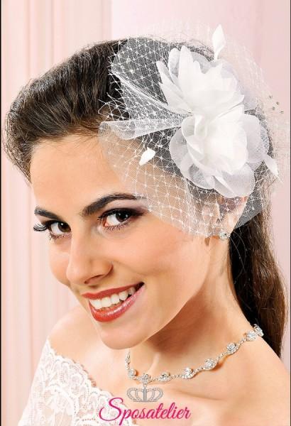 Fermacapelli per acconciatura sposa online in organza