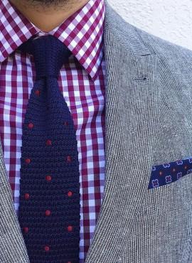 cravatte a pois colorate