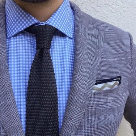 cravatta tricot navy