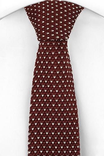 cravatta maglia fantasia bordeaux