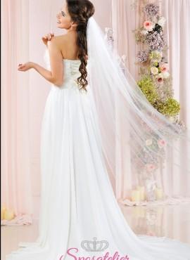 Velo sposa online lungo in tulle diamond firmato