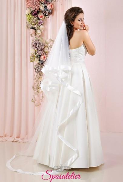 velo sposa con bordo in raso largo lungo vendita online