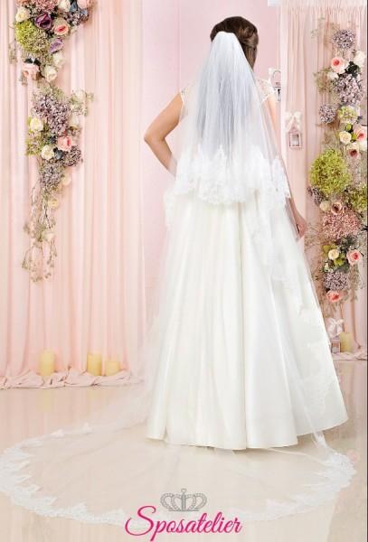 velo sposa lungo con calata bordo in pizzo vendita online