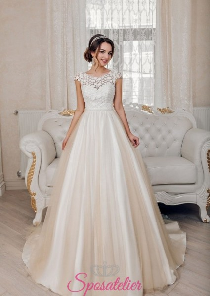 ESMERALDA – abiti da sposa favolosi con gonna colorata e decori in pizzo