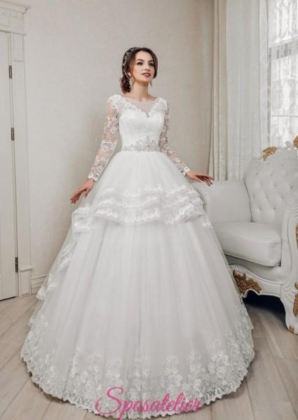 abiti da sposa economici online molto ricamato con gonna a balze