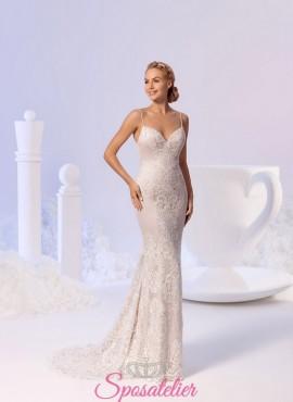 ESTELLA – vestiti da sposa a sirena in pizzo con bretelline
