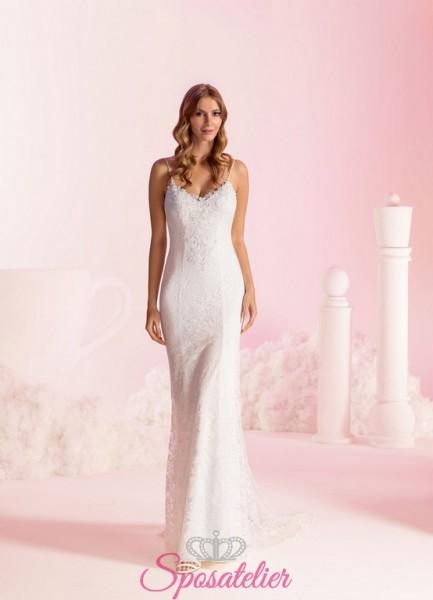 vestiti da sposa a sirena sexy con schiena scoperta economici online