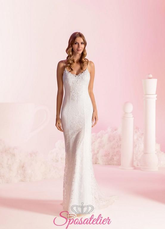 52c23c19e19a vestiti da sposa a sirena sexy con schiena scoperta economici online