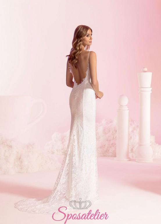 c7a1d974e6b8 vestiti da sposa a sirena sexy con schiena scoperta economici online.  Vendita!