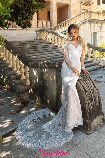 abiti da sposa roma economici a sirena in pizzo particolare collezione 2018