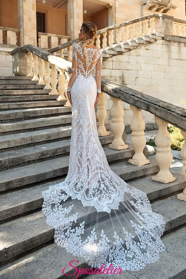 Vestiti Da Sposa Roma.Abiti Da Sposa Roma Economici A Sirena In Pizzo Particolare