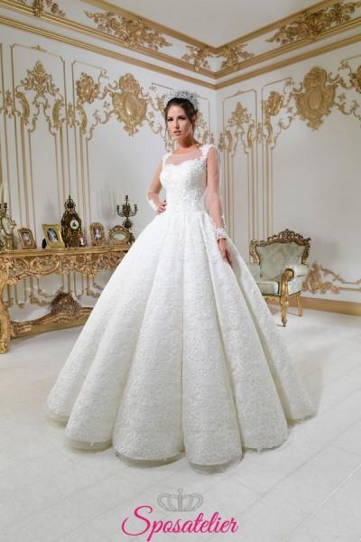 vestiti da sposa principessa collezione 2018 con gonna vaporosa e decori