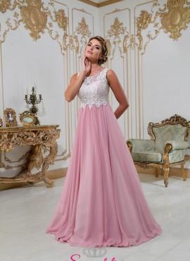 abiti da sposa colorati economici online 2018 con corpetto avorio e gonna rosa a line