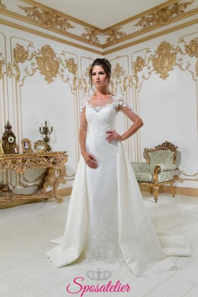 vestiti da sposa con gonna staccabile collezione 2018 sposatelier