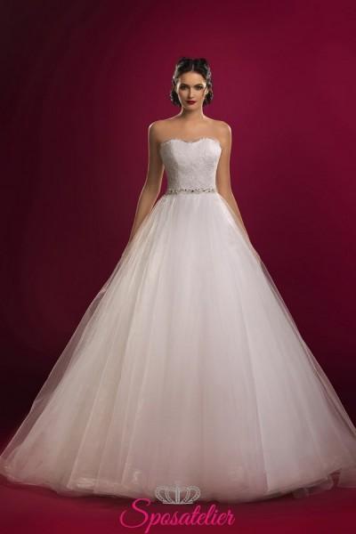 vestiti da sposa economici online con gonna morbida in tulle