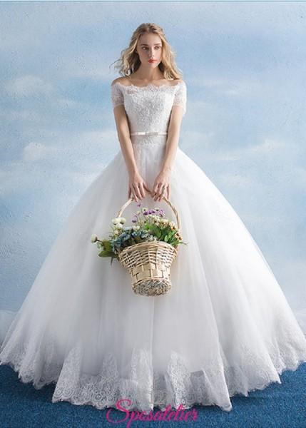 vestiti da sposa economici online modello principesco ampio con gonna ampia