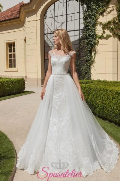 vestiti da sposa con gonna staccabile particolare economici online collezione 2018