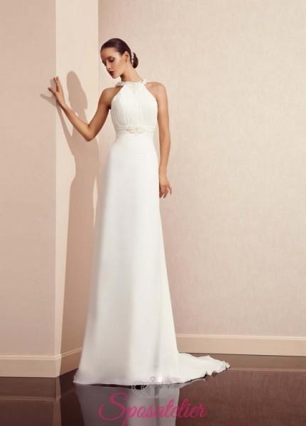 SOLANGYE – abito da sposa semplice con scollo all'americana
