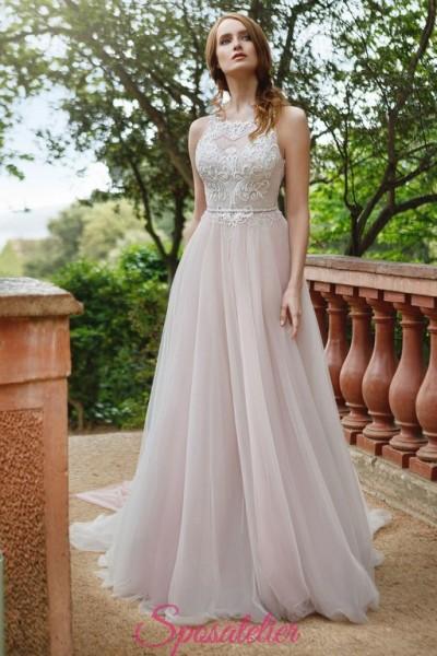abiti da sposa colori romantici economici online 2018