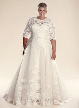 FRYDA – abiti per spose formose con spalle coperte shop online