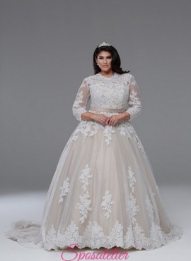 abiti da sposa taglie forti colorati collezione 2018