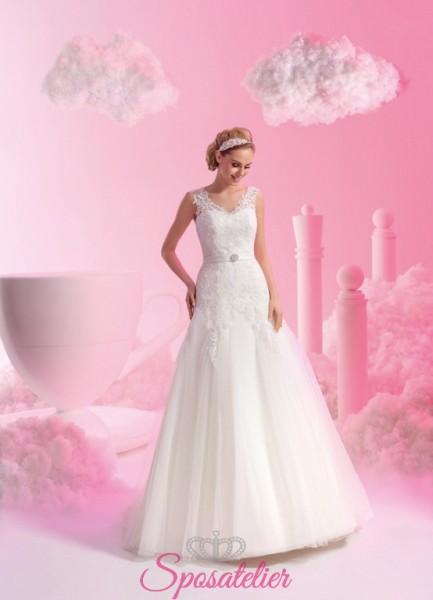 abiti da sposa in tulle con gonna in tulle collezione 2018