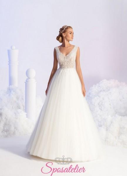 abiti da sposa da principessa con decori particolari 2018