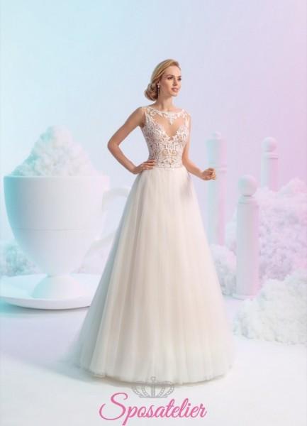 Milano- abiti da sposa economici in vendita online modello principessa