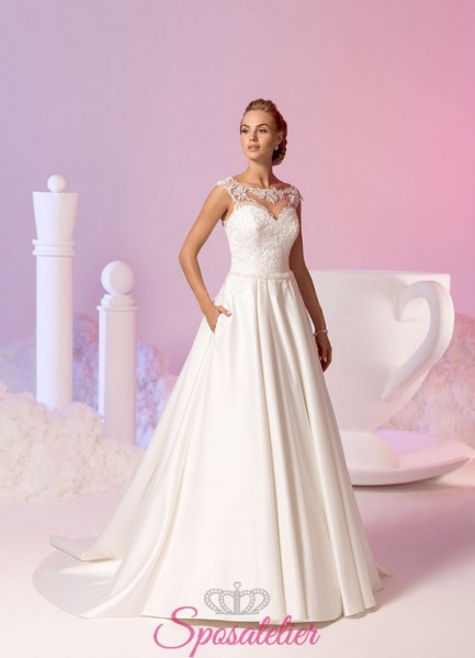Annagrazia – abiti da sposa stile principessa in raso con decori in pizzo collezione