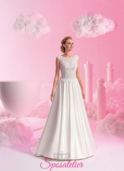 abiti da sposa classico ed elegnate da principessa con ricami collezione 2018