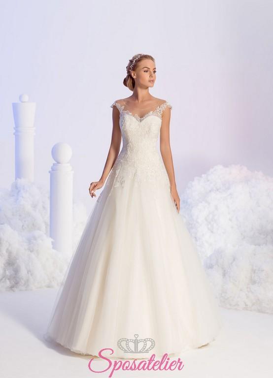 e0d7401889f1 abiti da sposa semplici con scollatura trasparente collezione 2018
