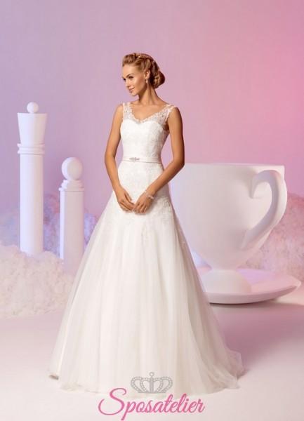 abiti da sposa in offerta da principessa con bottoncini sulla schiena