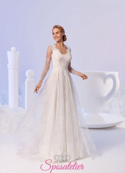FIAMMY – abiti da sposa romantici e femminili con pizzo particolare nuova collezione