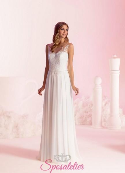 abiti da sposa semplici e scivolati nuova collezione 2018