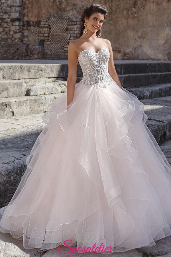 6b3ae86fcc50 abito da sposa a palloncino stile principessa di tendenza 2018 2019  collezione online
