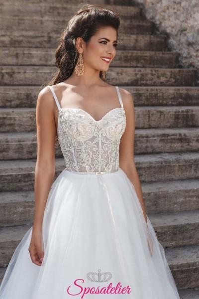 EVEA – abiti da sposa da principessa con corpetto di pizzo tendenze