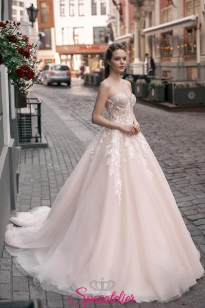 abiti da sposa colorati da principessa tendenze 2018 2019