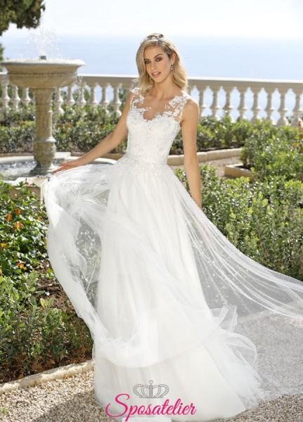 vestiti da sposa semplici ed economici eleanti in pizzo