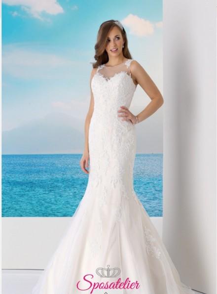 JULIETTA – abiti da sposa a sirena schiena ricamata in pizzo nuova collezione