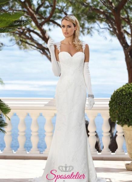 abiti da sposa tendenze 2018 2019 modello sirena aderente
