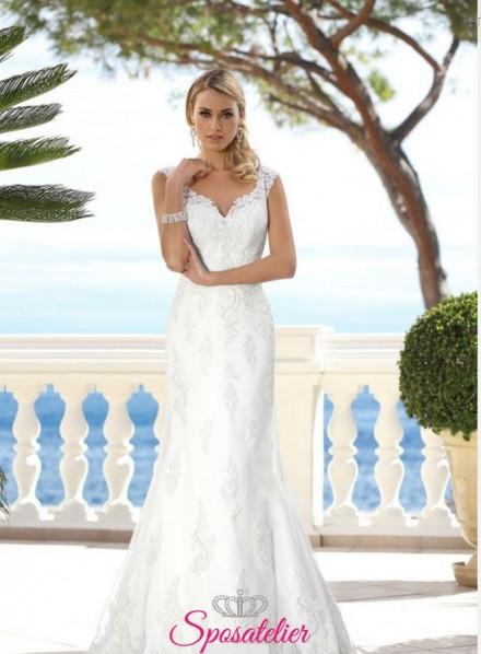 abiti da sposa a sirena con ricami in pizzo collezione 2018 2019