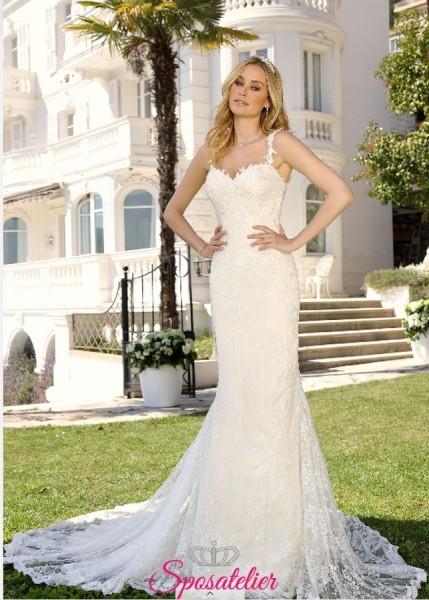 abito da sposa a sirena in pizzo 2019 collezione online