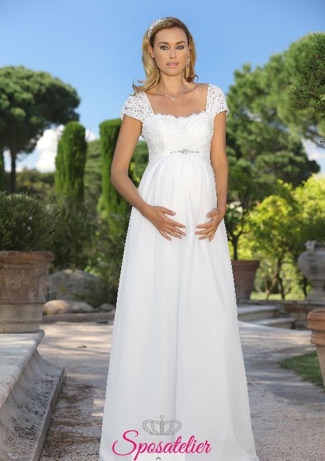 cf1bcd960752 abiti da sposa premaman 2018 economici onlineSposatelier